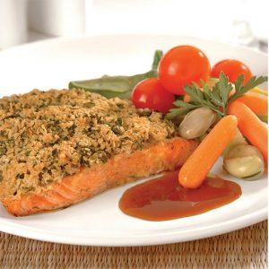 salmón con costra
